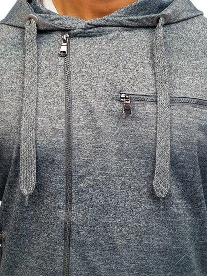 Bluza męska z kapturem szara Denley 7093