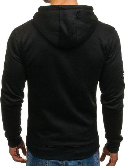 Bluza męska z kapturem z nadrukiem czarna Denley DD63