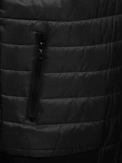 Czarna pikowana kamizelka męska Denley MY77