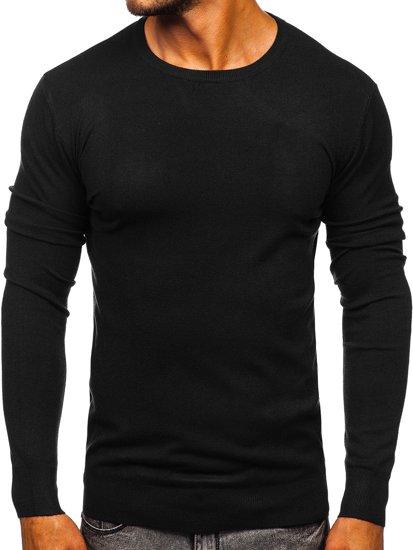 Czarny sweter męski Denley YY01
