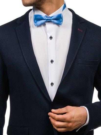 Elegancka mucha męska niebieska Denley M001