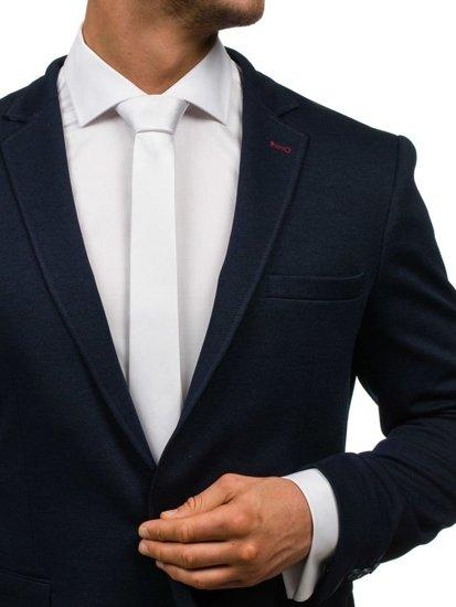 Elegancki krawat męski biały Denley K001