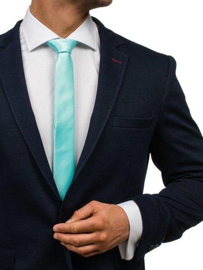 Elegancki krawat męski miętowy Denley K001