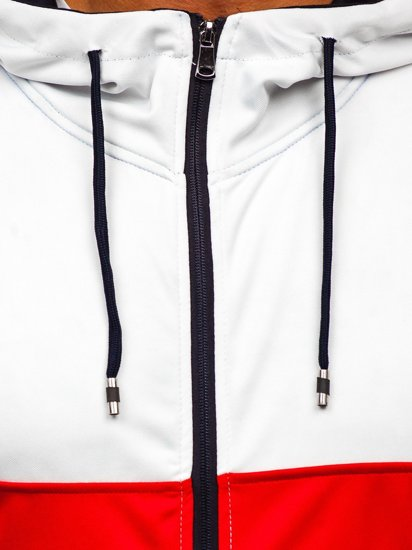 Granatowa z kapturem bluza męska rozpinana Denley 81292