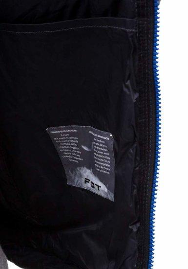 Kamizelka męska bez kaptura czarno-niebieska Denley 5707