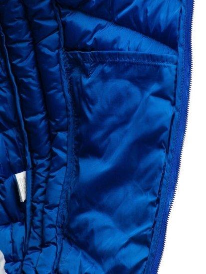 Kamizelka męska pikowana bez kaptura niebieska Denley SM22