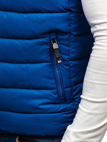Kamizelka męska pikowana niebieska Denley 1262