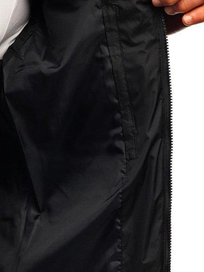 Kamizelka męska pikowana z kapturem  czarna Denley A5502