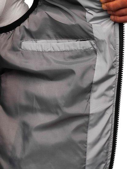 Kamizelka męska z kapturem czarna Denley 5804