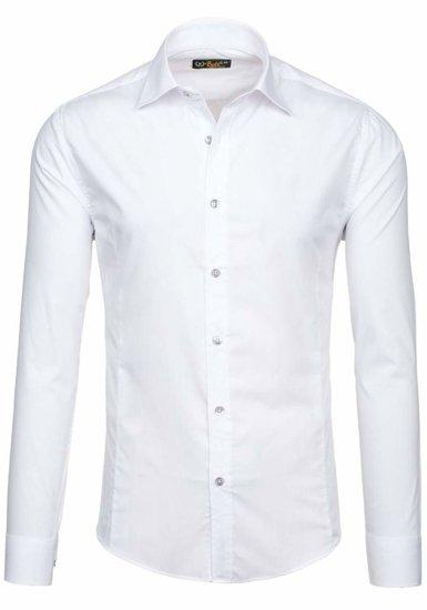 Koszula męska elegancka z długim rękawem biała Bolf 1703-2