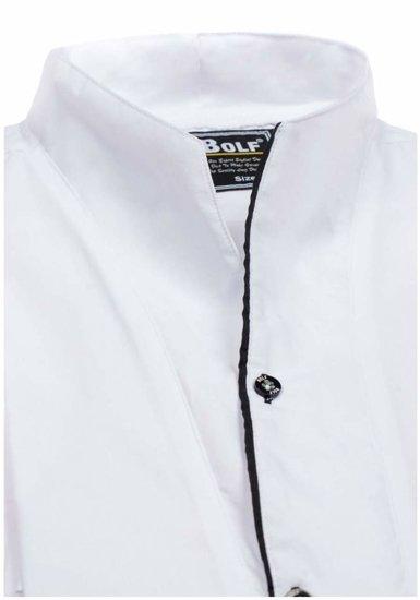 Koszula męska z długim rękawem biała Bolf 5720-1