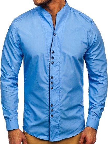 Koszula męska z długim rękawem błękitna Bolf 5720