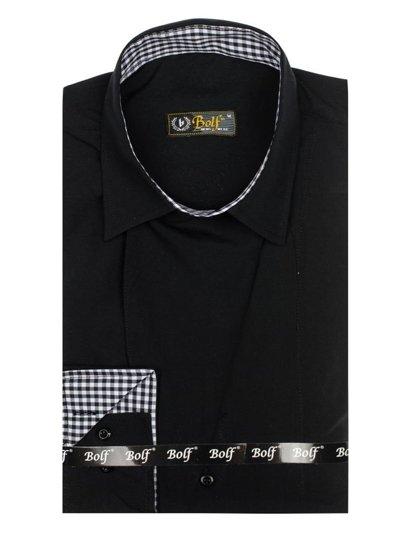 Koszula męska z długim rękawem czarna Bolf 5746-A