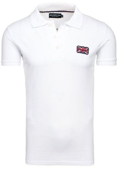 Koszulka polo męska biała Denley a502