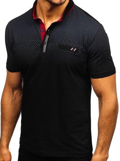 4e8de0969 Koszulka polo męska czarna Denley 6599