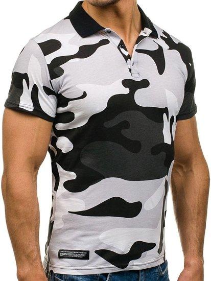 Koszulka polo męska moro-szara Denley 1126