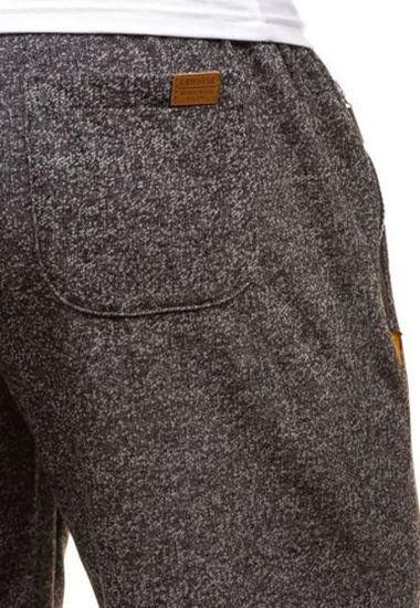 Krótkie spodenki dresowe męskie antracytowe Denley 3472A