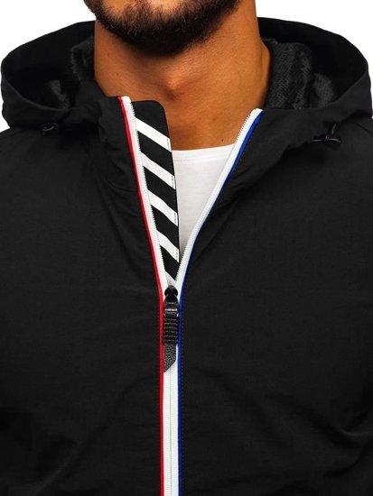 Kurtka męska przejściowa czarna Denley 5683