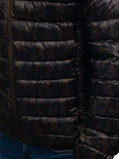 Kurtka męska przejściowa moro-khaki Denley 3117
