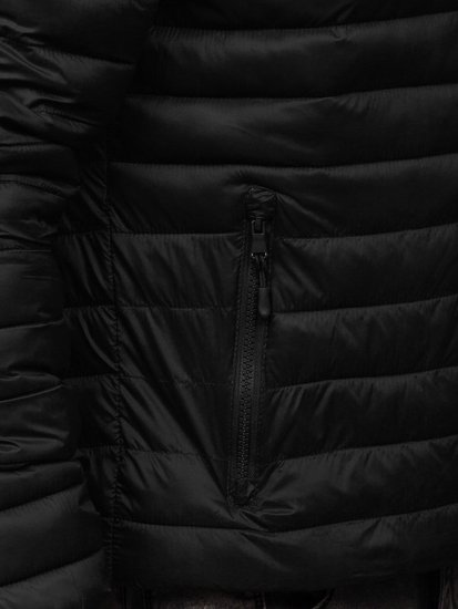 Kurtka męska przejściowa pikowana czarna Denley LY35