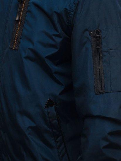 Kurtka męska przejściowa sportowa granatowa Denley RZ03