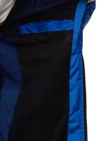 Kurtka męska przejściowa sportowa niebieska Denley HS06