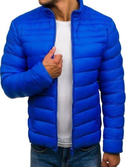 Kurtka męska przejściowa sportowa niebieska Denley JS512