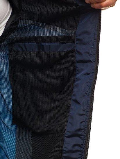 Kurtka męska przejściowa sportowa niebiesko-granatowa Denley HS10
