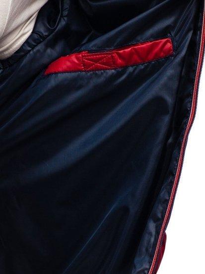 Kurtka męska przejściowa sportowa pikowana bordowa Denley 1852