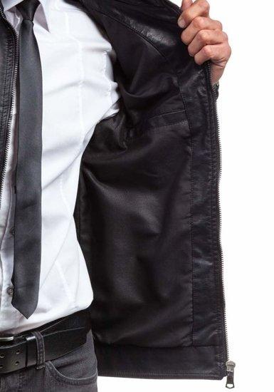 Kurtka męska skórzana czarna Denley 288