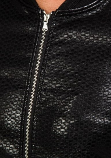 Kurtka męska skórzana czarna Denley 8980