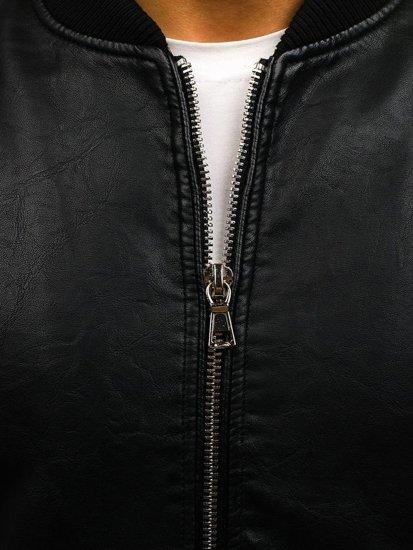 Kurtka męska skórzana czarna Denley 9150
