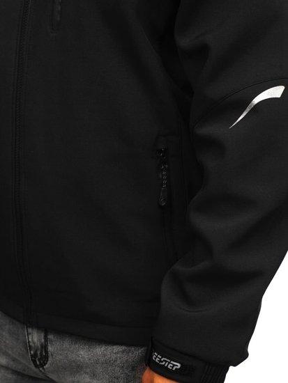Kurtka męska softshell czarna Denley P821