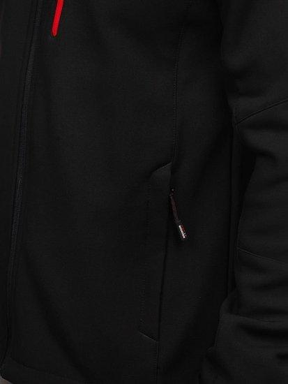 Kurtka męska softshell czarno-czerwona Denley 107A