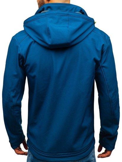 Kurtka męska softshell niebieska Denley 004a