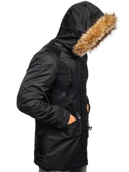 Kurtka męska zimowa czarna Denley 1080