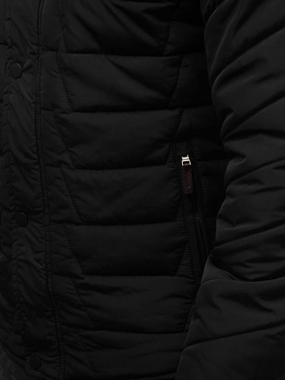 Kurtka męska zimowa czarna Denley 1673