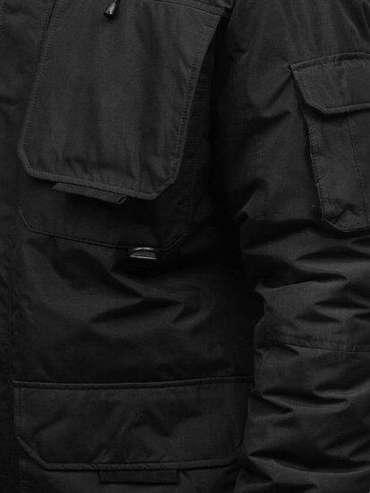 Kurtka męska zimowa czarna Denley 201802