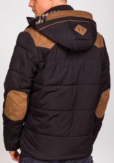 Kurtka męska zimowa czarna Denley 3088