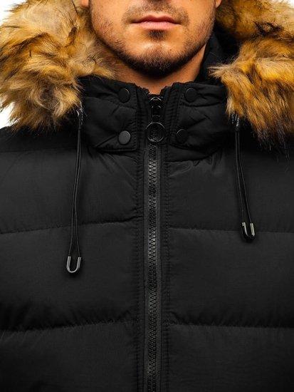 Kurtka męska zimowa czarna Denley 5311