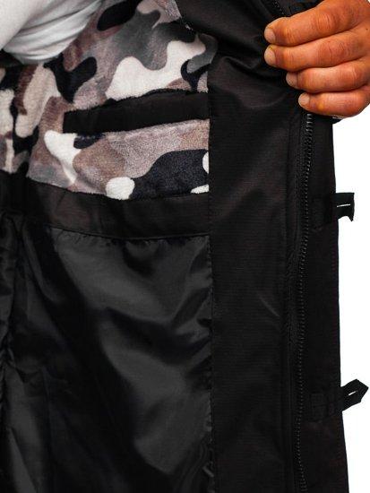 Kurtka męska zimowa czarna Denley 99116