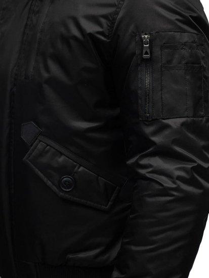 Kurtka męska zimowa czarna Denley 99123
