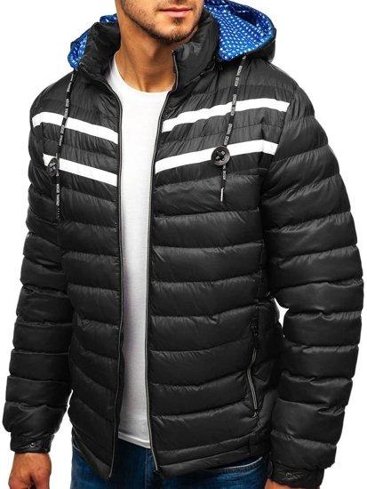 Kurtka męska zimowa czarna Denley A211