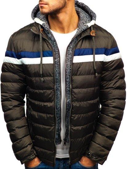 Kurtka męska zimowa khaki Denley A181