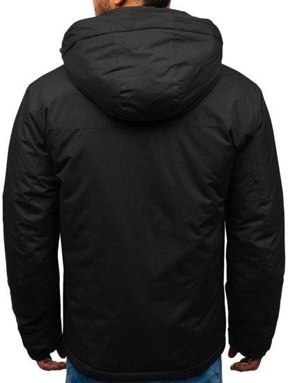 Kurtka męska zimowa narciarska czarna Denley HZ8107