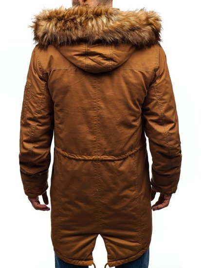 Kurtka męska zimowa parka camelowa Denley R107