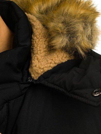 Kurtka męska zimowa parka czarna Denley 1046