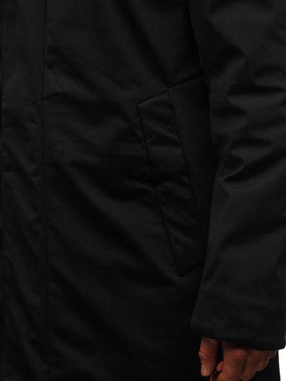 Kurtka męska zimowa parka czarna Denley 5598