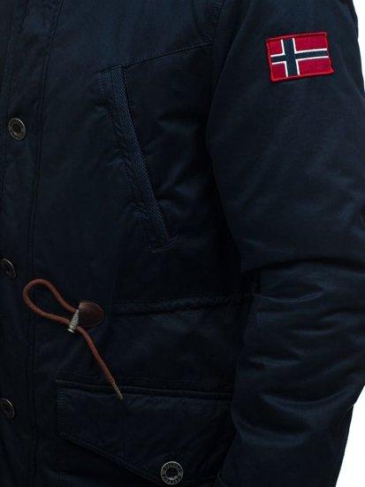 Kurtka męska zimowa parka granatowa Denley 1777