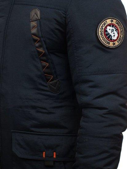 Kurtka męska zimowa parka granatowa Denley 5312